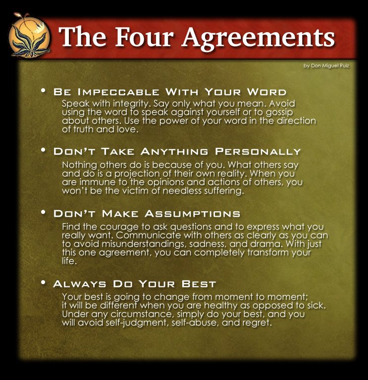 Live By These Four Agreements Living Your Best