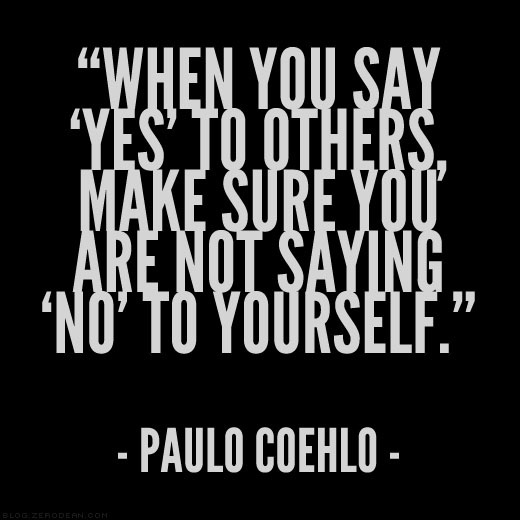 No to yourself