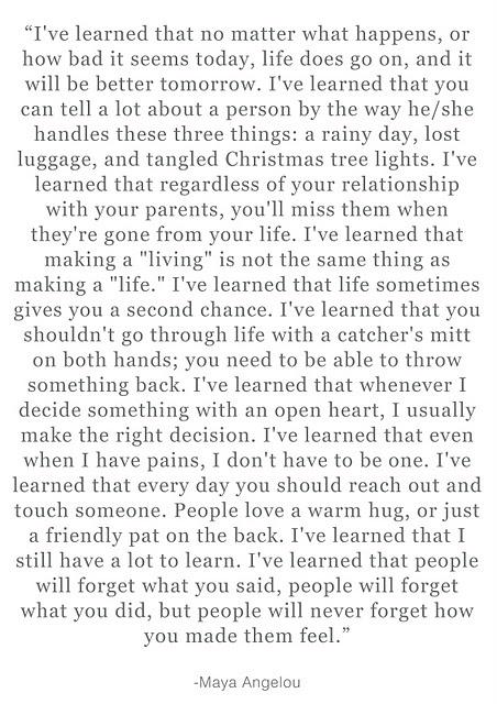 I've learned