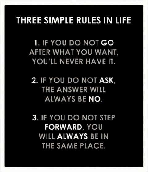 3 simple rules in life