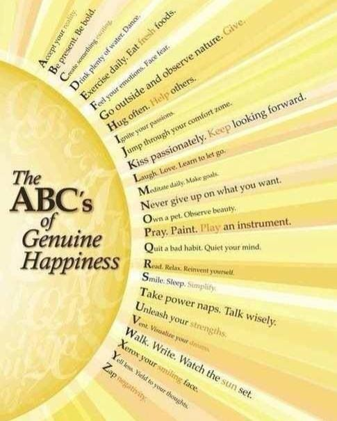 ABC's of genuine happiness
