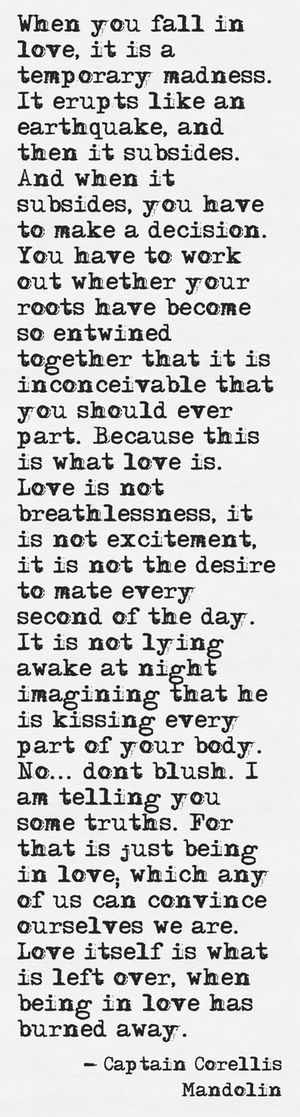 Love is temporary madness.
