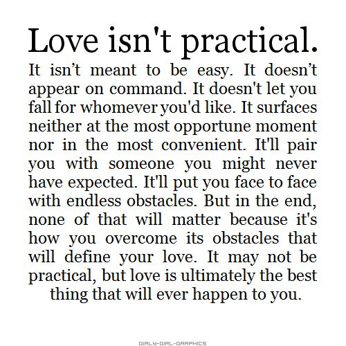 Love isn't practical