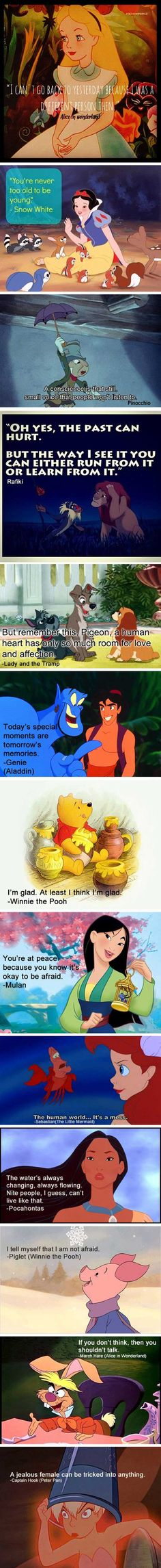Wise sayings from Disney.