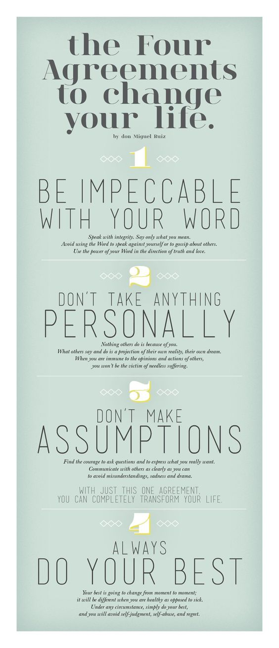 Four Agreements Quotes Brilliant The Four Agreementsdon Miguel Rui Living Your Best